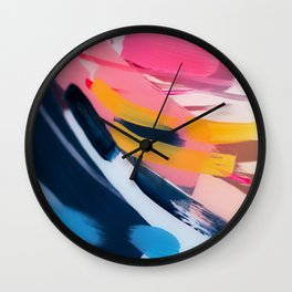 Even After All  #1 - Abstract on perspex by Jen Sievers Wall Clock