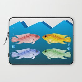 Colored Fish Laptop Sleeve