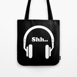 Headphones and music Tote Bag