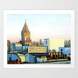 Setas Skyline, Seville, Spain Art Print