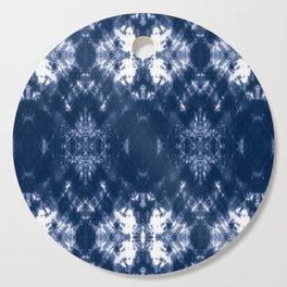 Shibori Tie Dye 1 Indigo Blue Cutting Board