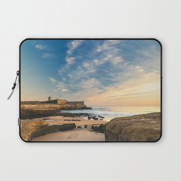 Beach of Carcavelos & Saint Julian Fortress, Portugal Laptop Sleeve