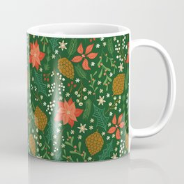 Winter Florals - Green Coffee Mug
