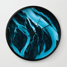 Minimalistic and Moody Glacial Rivers in Iceland – Aerial Landscape Photography Wall Clock