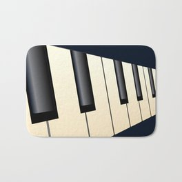 Piano Keys Perspective Bath Mat
