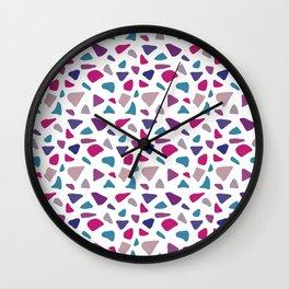 Pink Purple Gemstone Tile Pattern Wall Clock