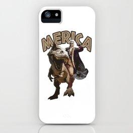 George Washington Riding a Tyrannosaurus Rex iPhone Case
