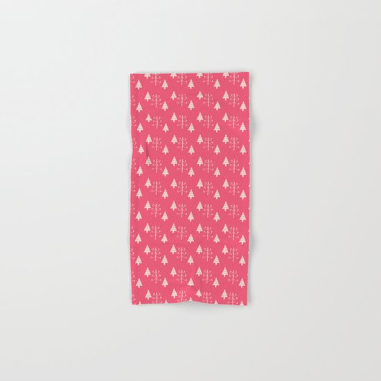 Christmas tree pink Hand & Bath Towel
