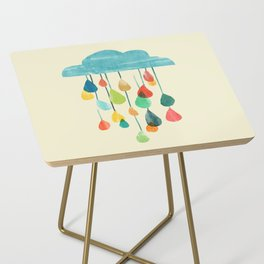 cloudy with a chance of rainbow Side Table