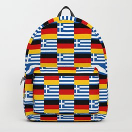 Mix of flag : Germany and greece Backpack