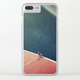 Running Away From Home Clear iPhone Case