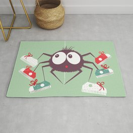 Halloween Spider Rug