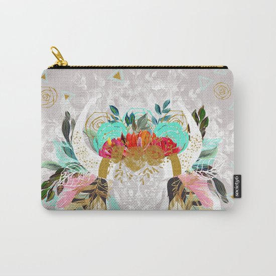 Fantasy boho skull Carry-All Pouch