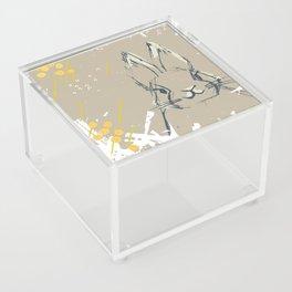 Bunny Portrait M+M Latte by Friztin Acrylic Box