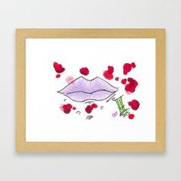 Zombie Lips Framed Art Print