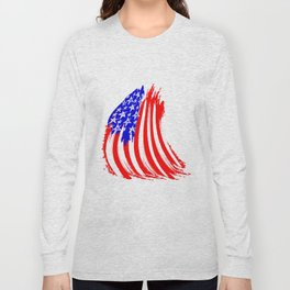USA Sketched Flag Long Sleeve T-shirt