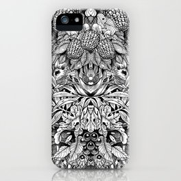 Summer Foliage, Black and White iPhone Case