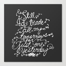 Fall Out Boy - 'Just One Yesterday' Canvas Print