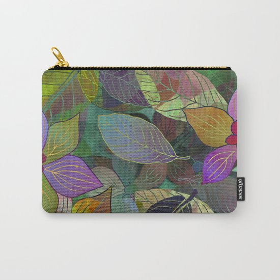 Floral Pattern 7 Carry-All Pouch