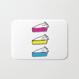 3 Pies - CMYK/White Bath Mat