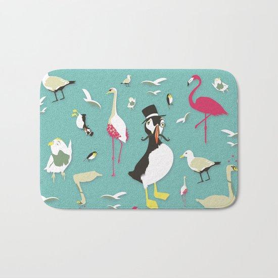 Party Birds - Pattern Bath Mat