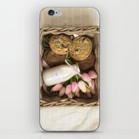 cookie iPhone & iPod Skins featuring Cookie by Noura Aljarbou