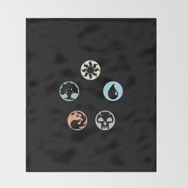 MTG Symbols Throw Blanket