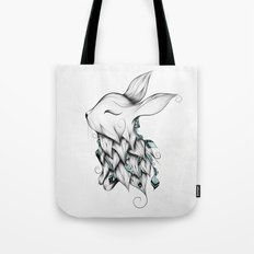 Poetic Rabbit Tote Bag