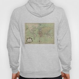 Vintage Map of The World (1778) Hoody
