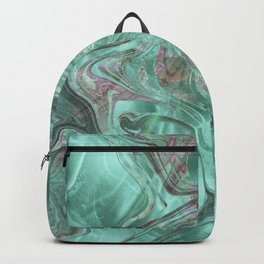 Mint Gem Green Marble Swirl Backpack