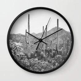 A Gathering of Cacti, No. 2 Wall Clock