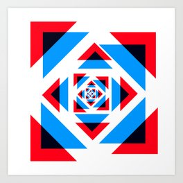 British Rose Union Jack Art Print
