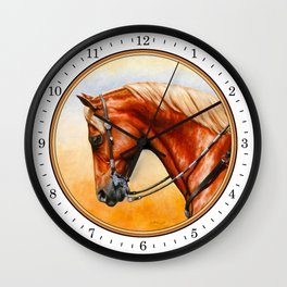 Western Sorrel Quarter Horse Wall Clock