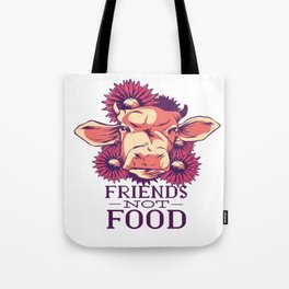 friendship with cows Tote Bag