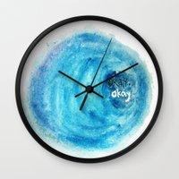 okay Wall Clocks featuring Okay. by Tiny M