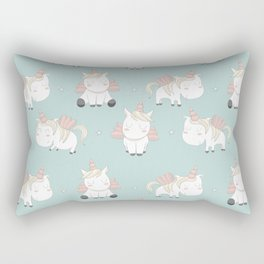 Pegacorn - Mint Green Rectangular Pillow