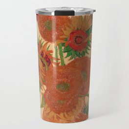 Still Life: Vase with Fourteen Sunflowers by Vincent van Gogh Travel Mug