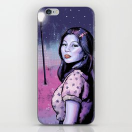 Girl Under the Stars iPhone Skin