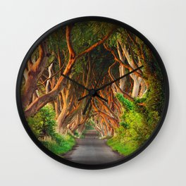 The Dark Hedges - County Antrim - Northern Ireland Wall Clock