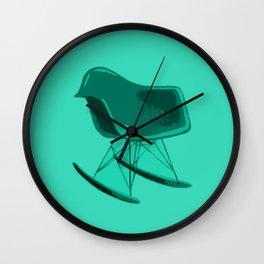 Rocker Chair Blue Wall Clock