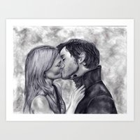 captain swan Art Prints featuring Captain Swan by Big Beautiful Blue Eyes