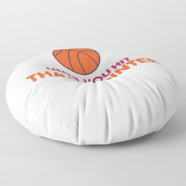 Basketball player throwing clothes Floor Pillow