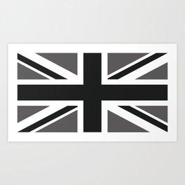 British Black & White Flag Art Print