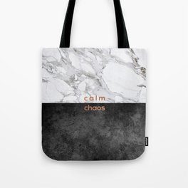 Calm Chaos, Typography Tote Bag