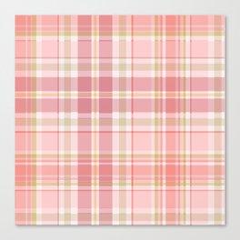 Pink Plaid Canvas Print