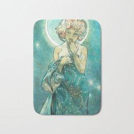 Alphonse Mucha Moonlight Art Nouveau Bath Mat