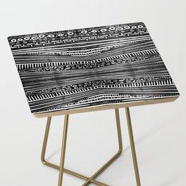 Linocut Tribal Pattern Side Table