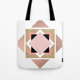 Carré rose Tote Bag