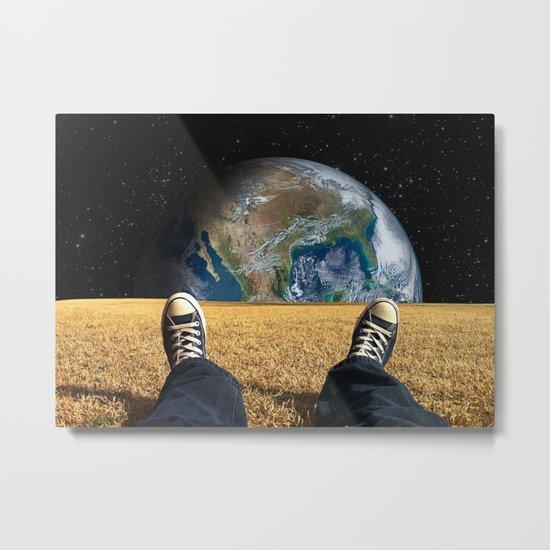 World view Metal Print