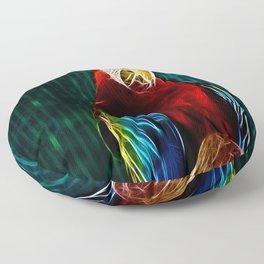 Macaw Portrait Matrix Floor Pillow